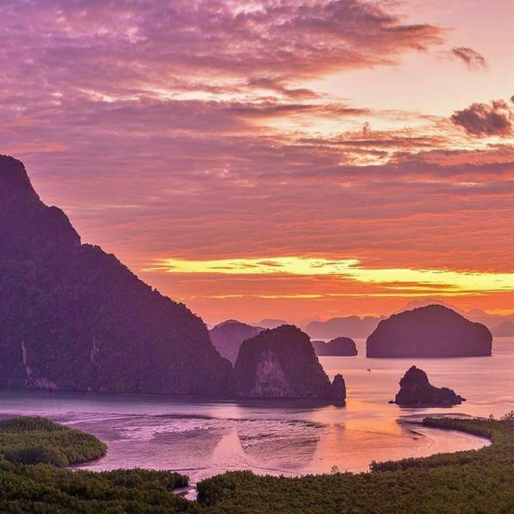 Sunrise in Phang Nga